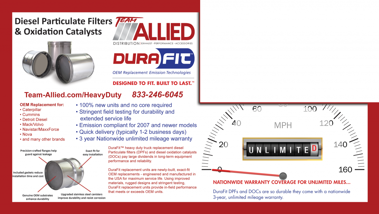AP Exhaust Durafit Heavy Duty Diesel Particulate Filter Oxidation Catalysts Front